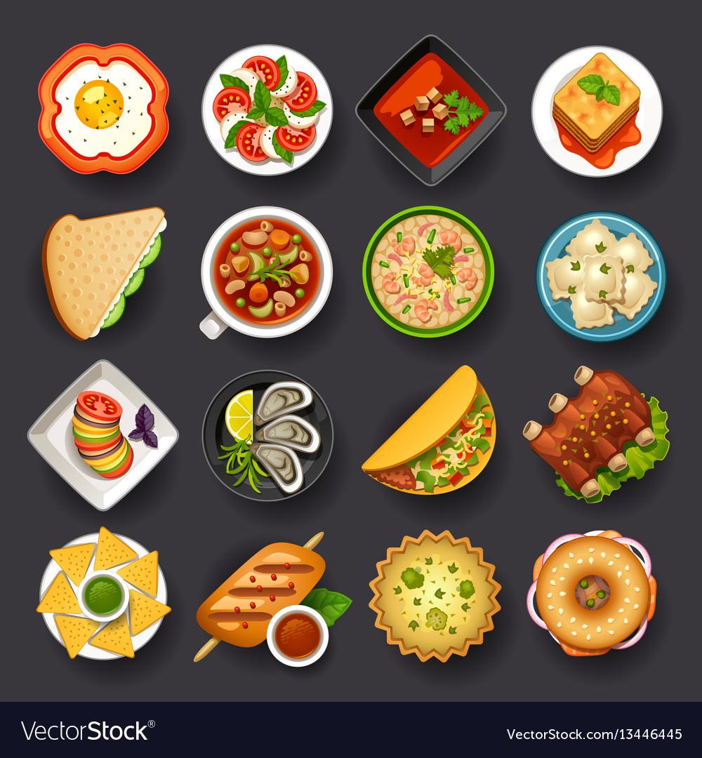Dishes icon set-2