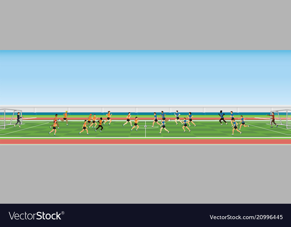 Football match team players sport championship vector image