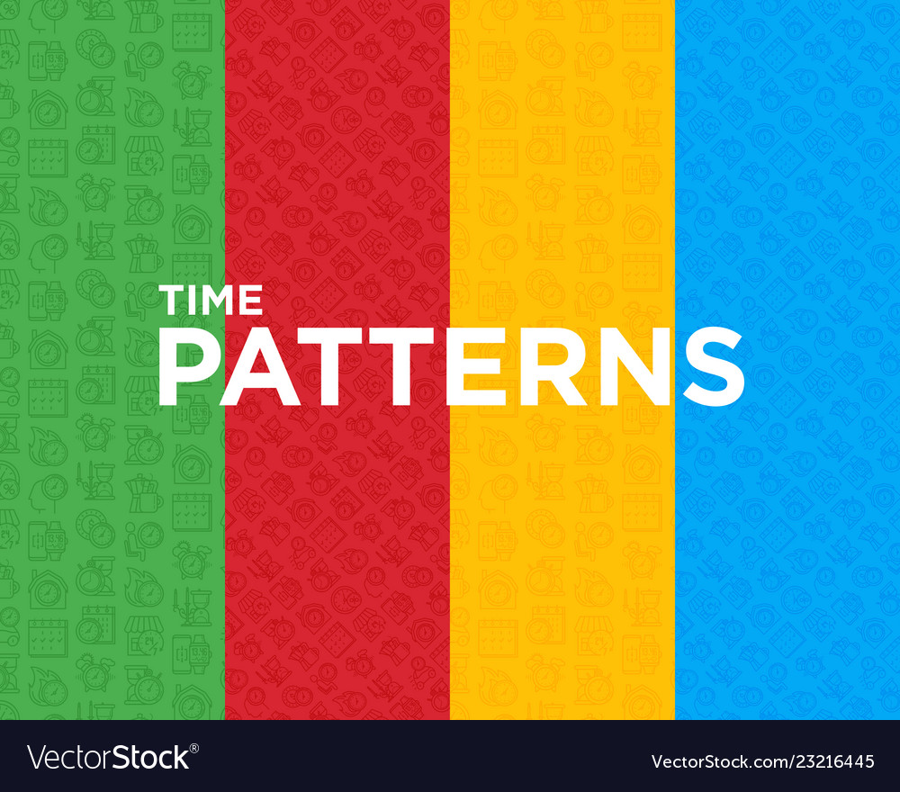 Four different time seamless pattern