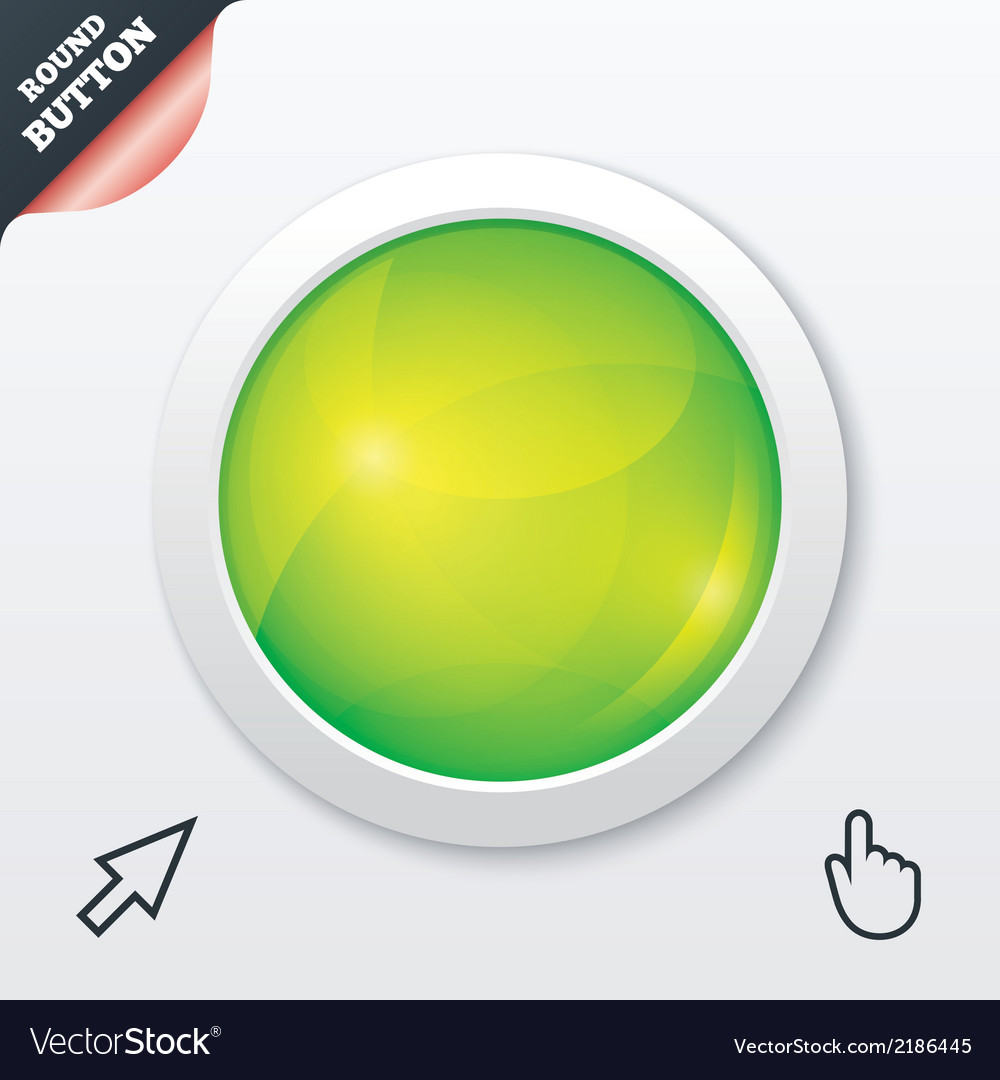 Glass button Green shiny round symbol Circle