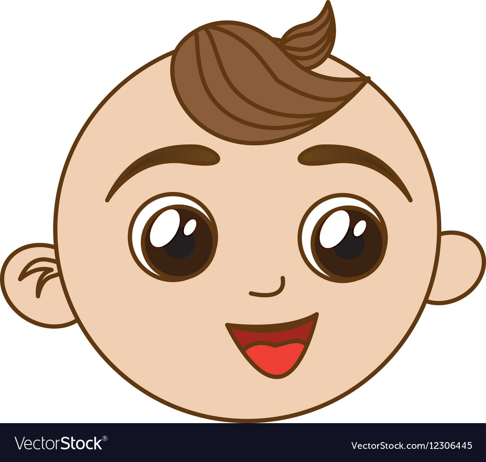 happy baby face icon image royalty free vector image rh vectorstock com baby face cartoon vector baby face finster cartoon