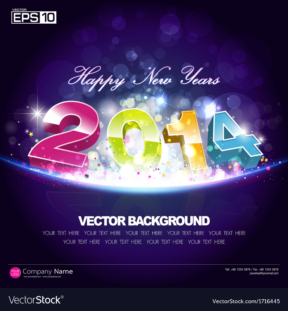happy new year 2014 background desing vector image