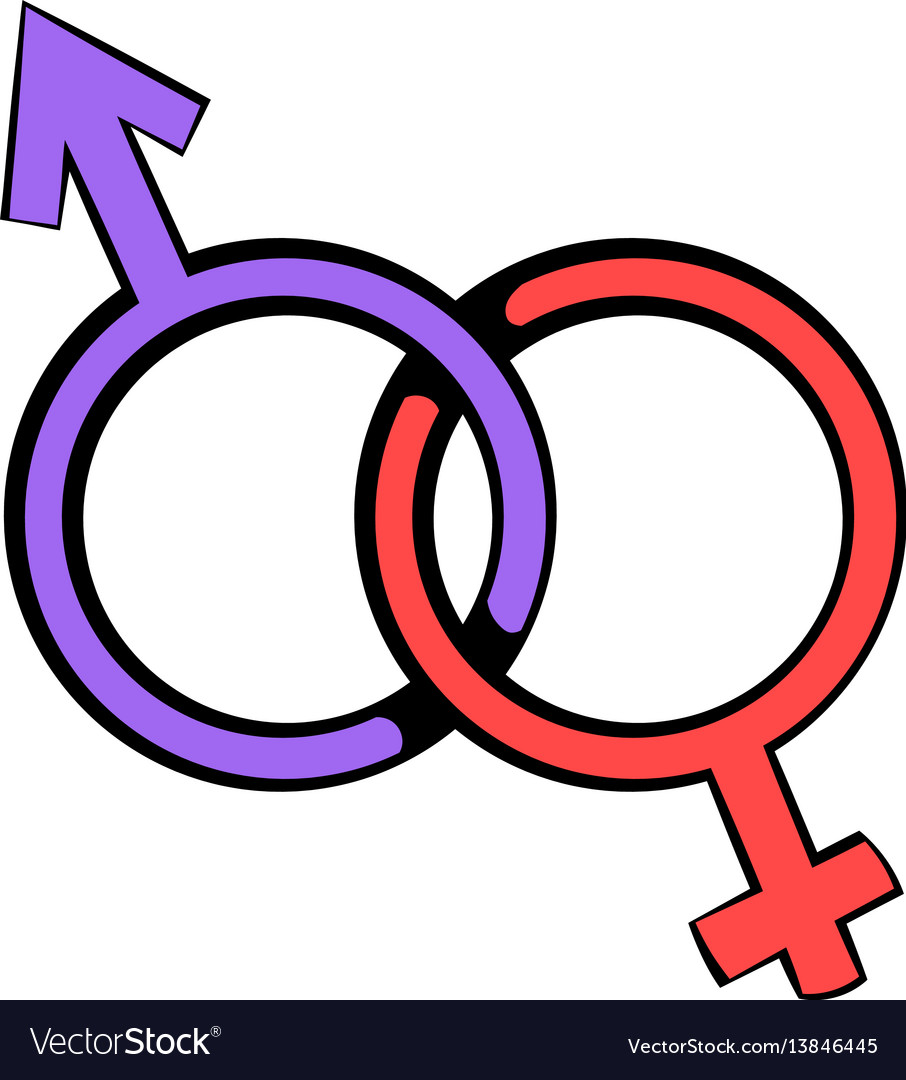 Male and female signs icon icon cartoon