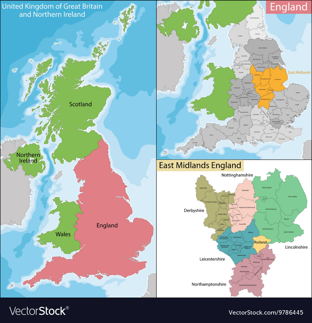 Map Of East Uk.Map Of East Midlands England