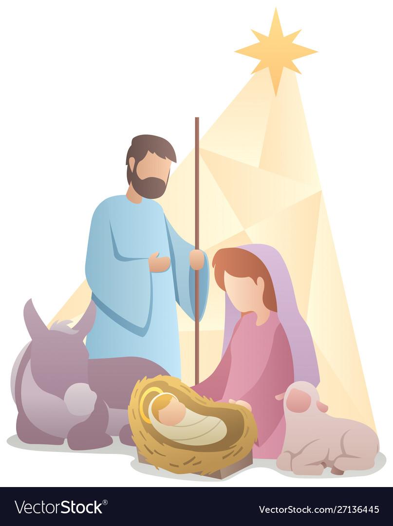 Nativity scene flat design