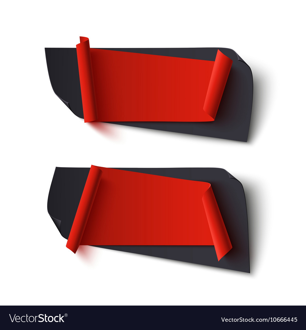 Two red and black abstract banners vector image