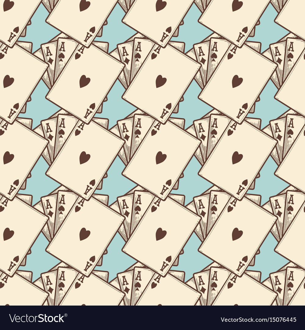 Vintage cards seamless pattern