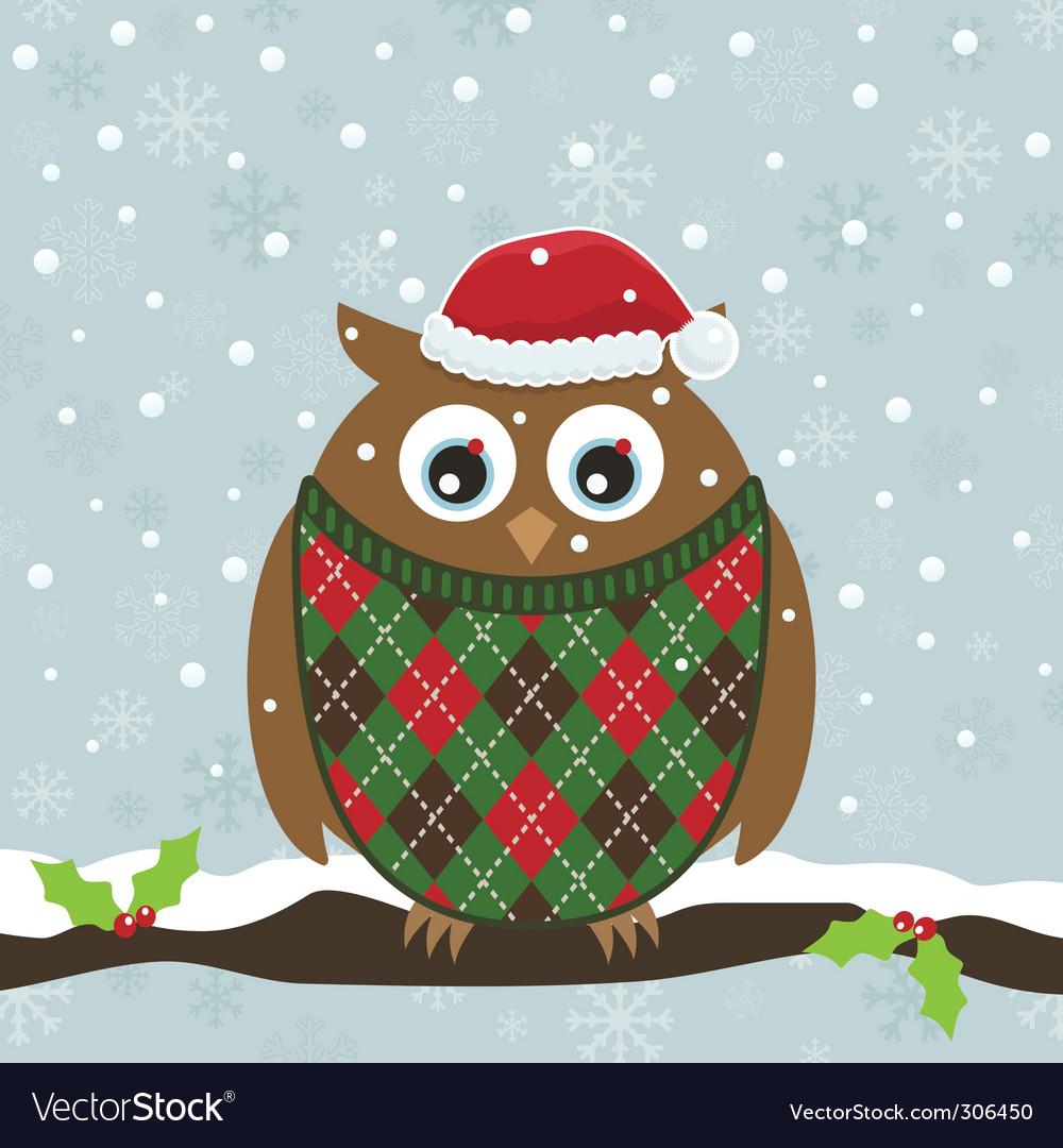 Christmas Owl.Christmas Owl