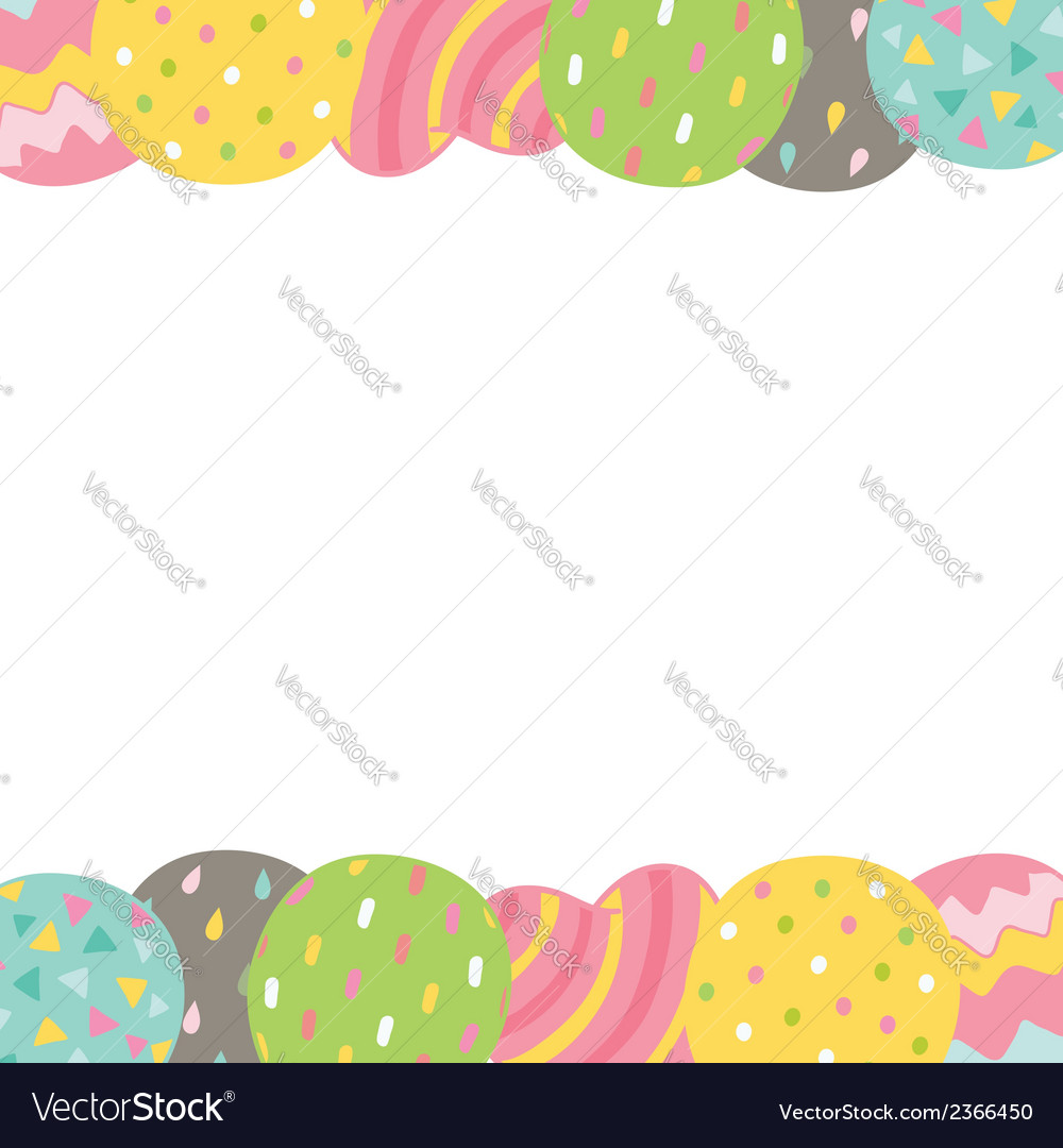 Cute cartoon Happy Birthday card with balloons vector image