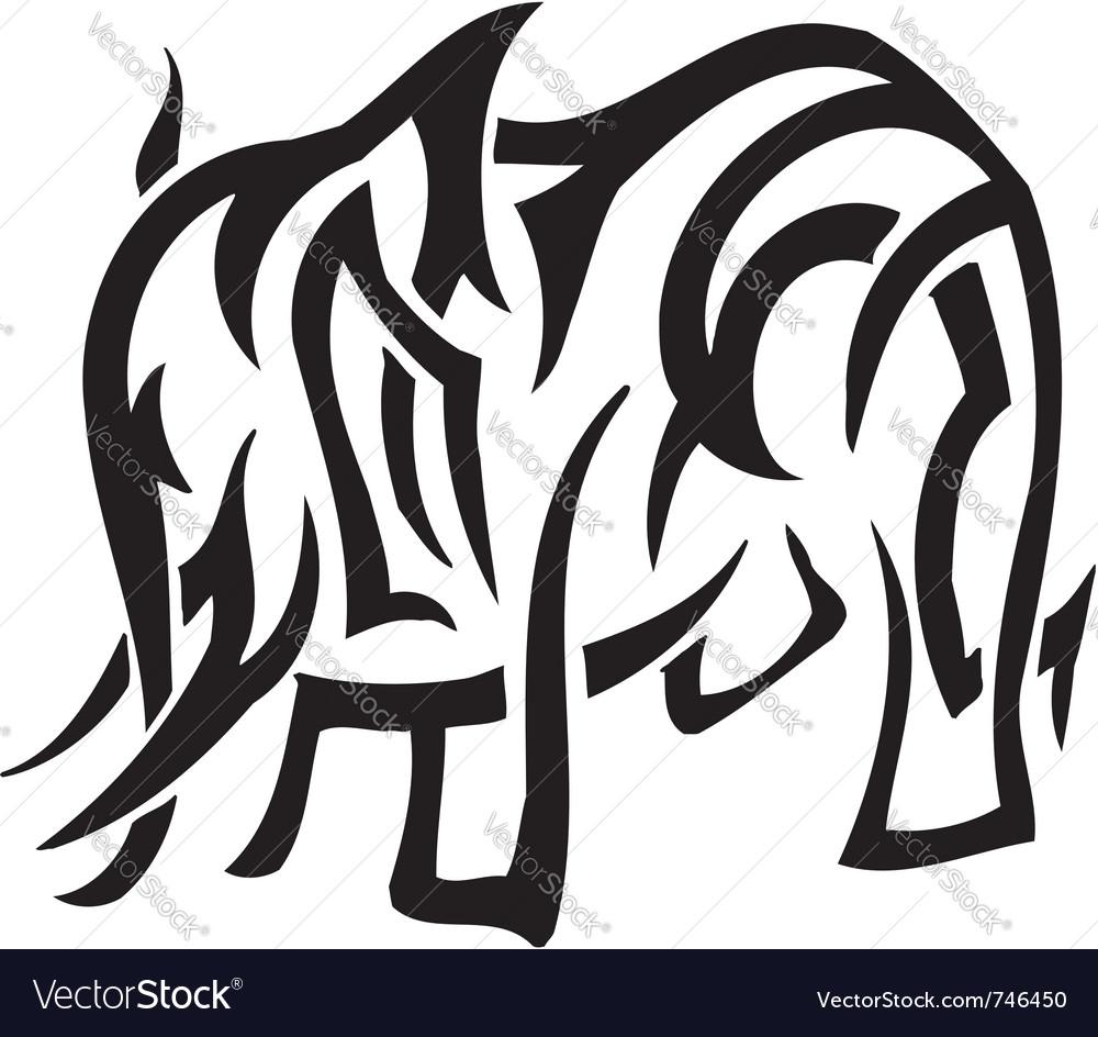 Elephant in tribal style