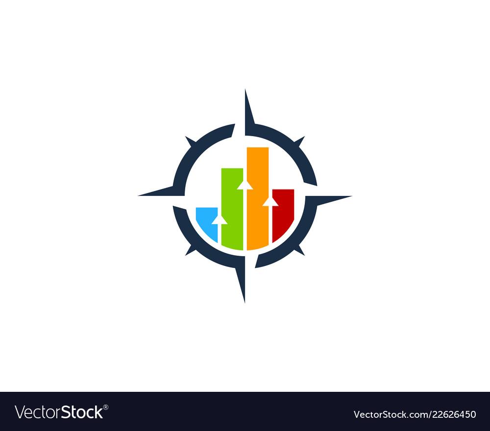 Graph compass logo icon design