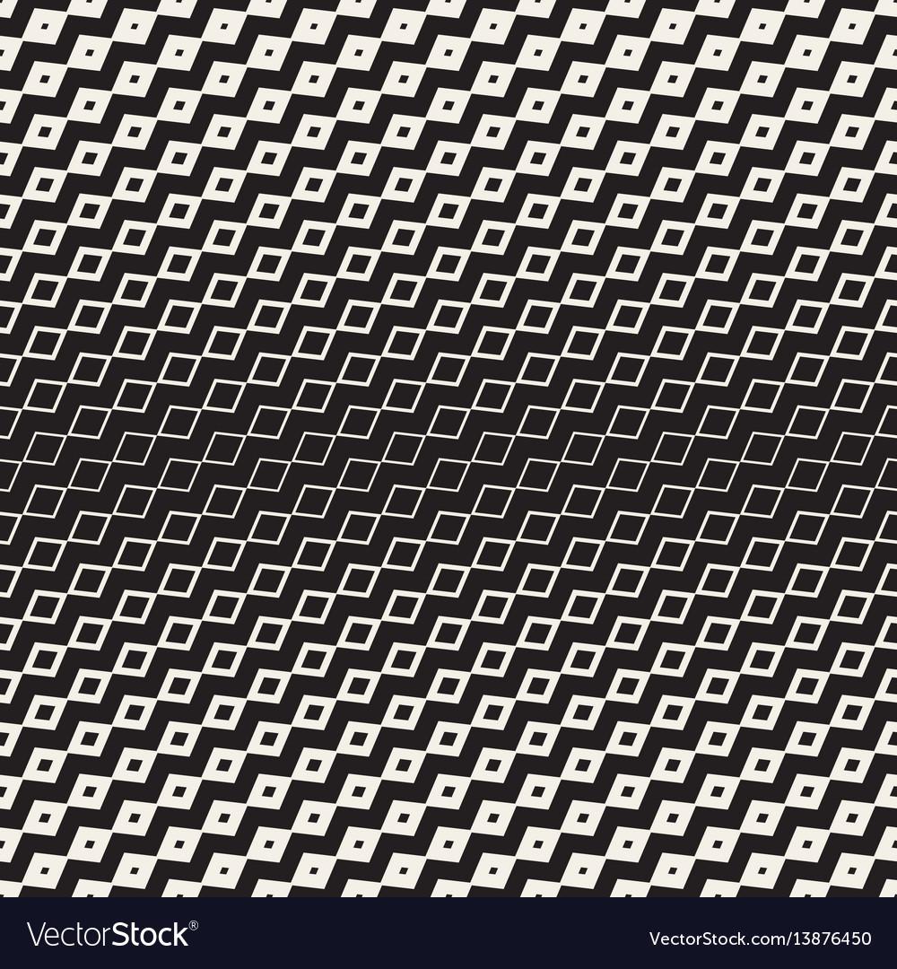 Halftone gradient mosaic lattice seamless vector image