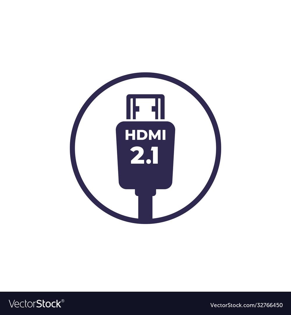 Hdmi 21 icon on white