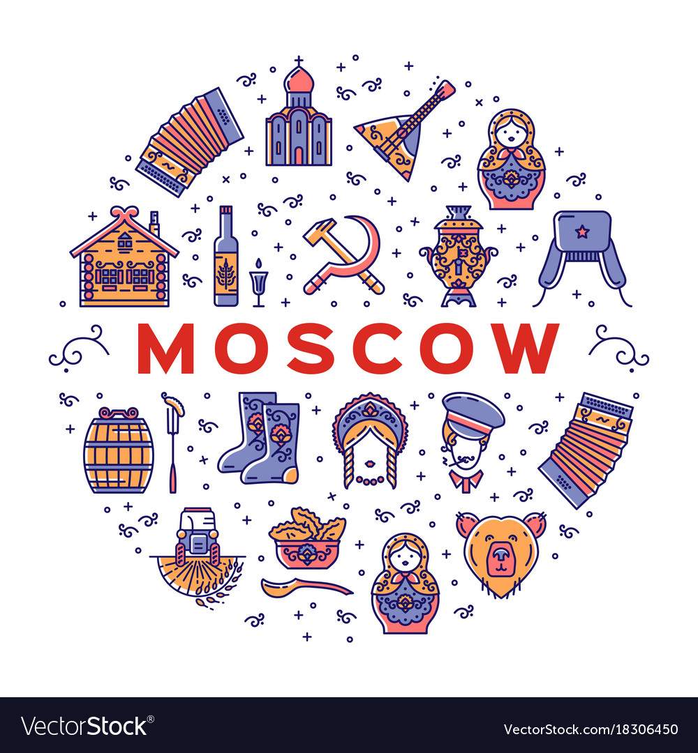 Moscow russian icons - flag