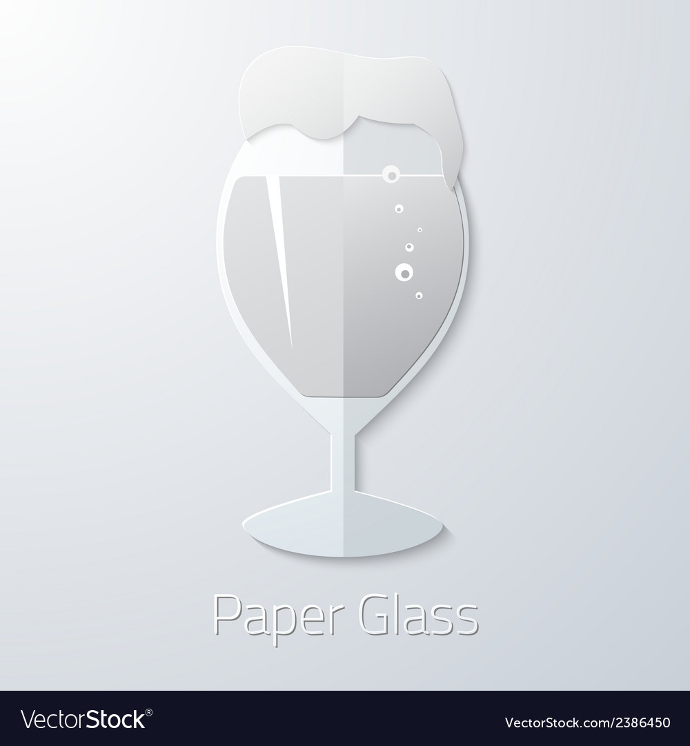 Paper Glass of Beer Flat Long Shadow Icon vector image