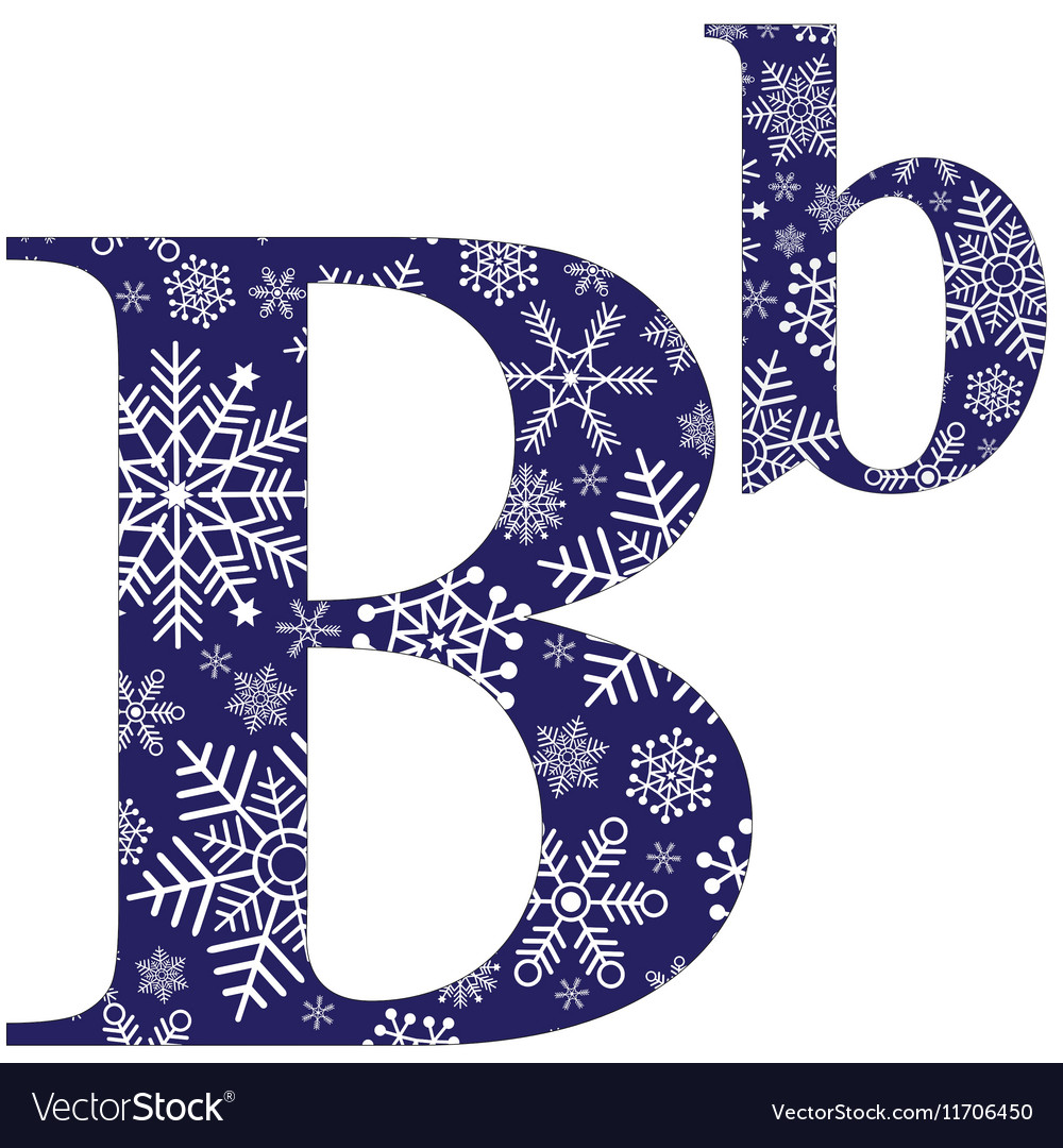 Uppercase And Lowercase Letters B Royalty Free Vector Image