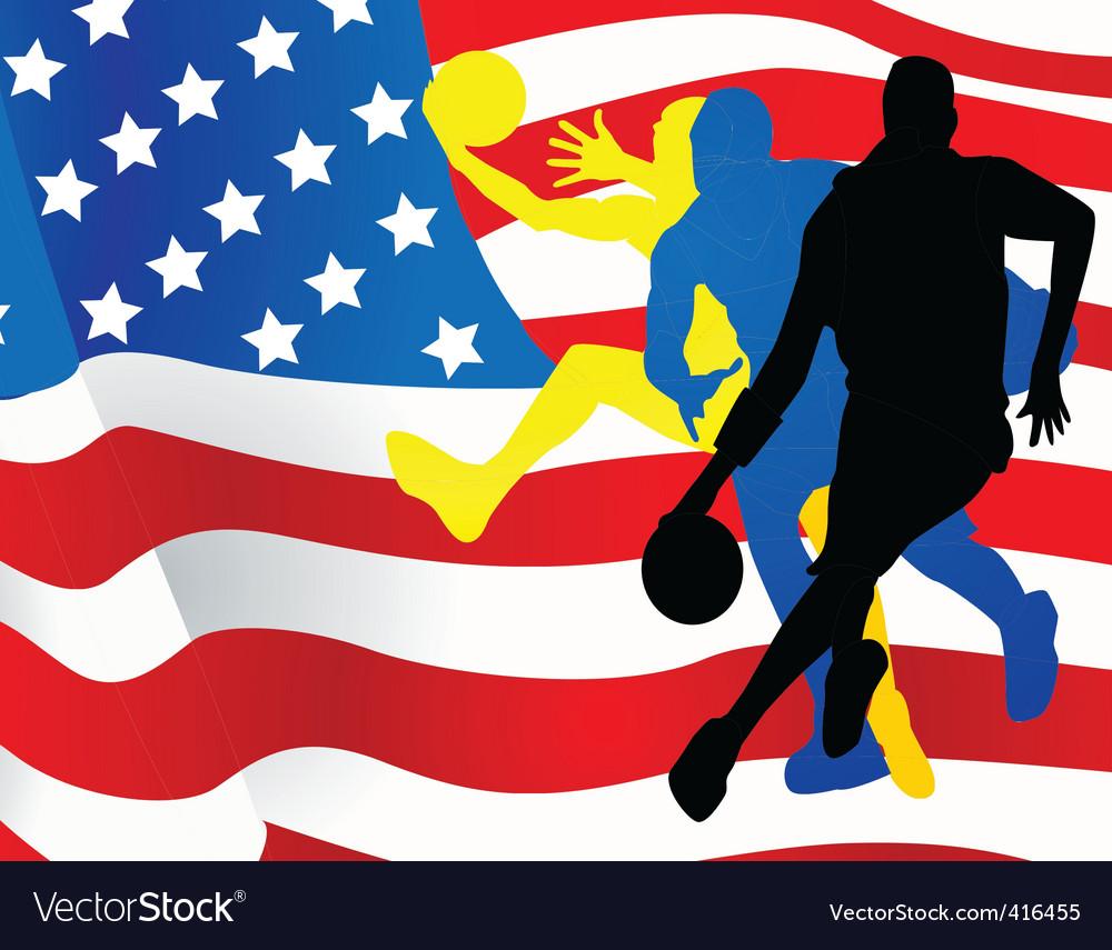 American sportsmen background vector image