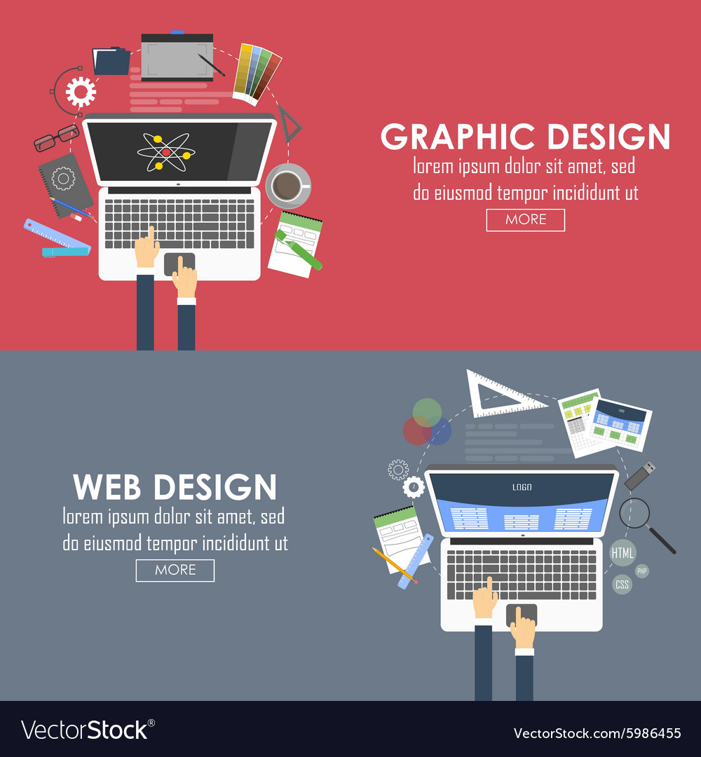 Banners for graphic design and web design