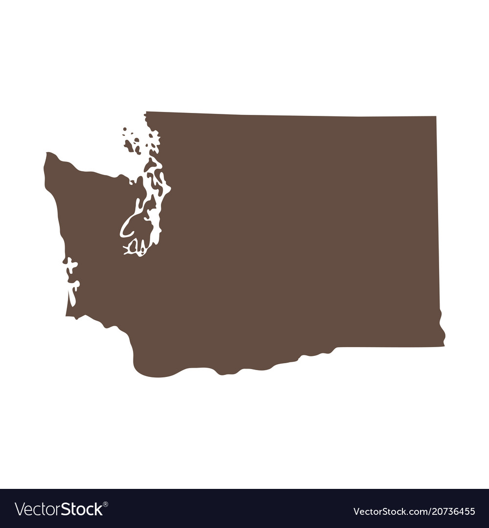 U S State Map Vector.Map Of The Us State Of Washington Royalty Free Vector Image