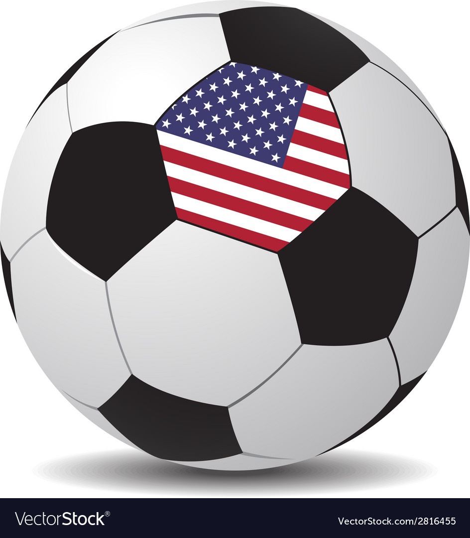 Soccer ball with the flag of USA Royalty Free Vector Image 63cc6b8f7