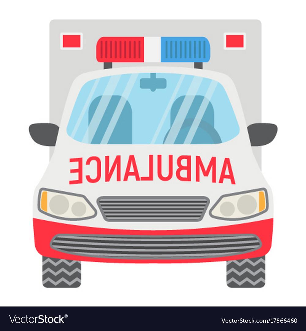 Ambulance flat icon transport and vehicle