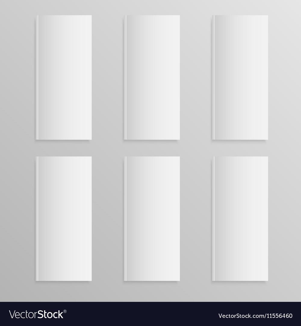 Blank empty magazine or book Mock up Six vector image