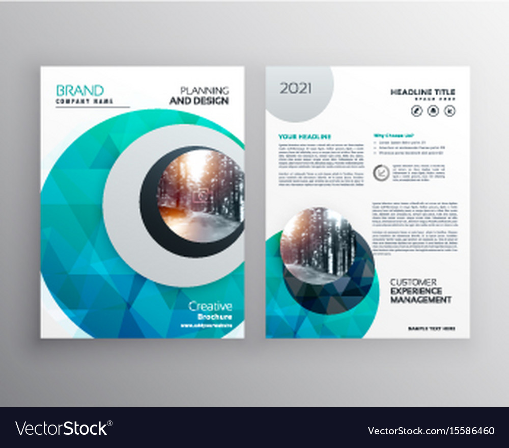 Blue Brochure Flyer Cover Page Template For