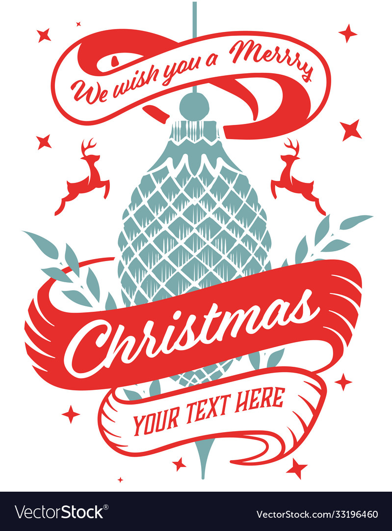 Christmas greeting card vintage style