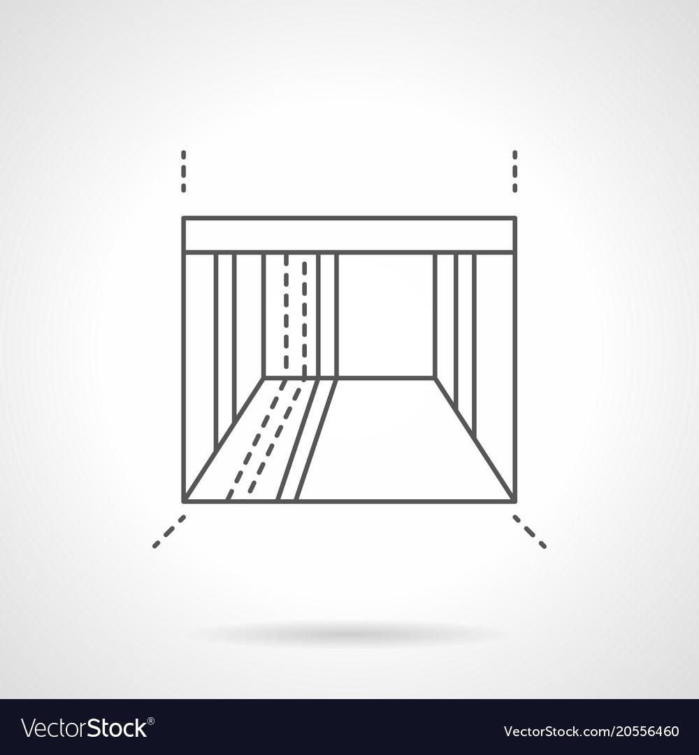 Admirable Empty Showroom Flat Line Icon Download Free Architecture Designs Scobabritishbridgeorg