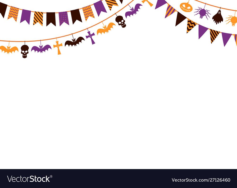 Halloween garland background 31st october