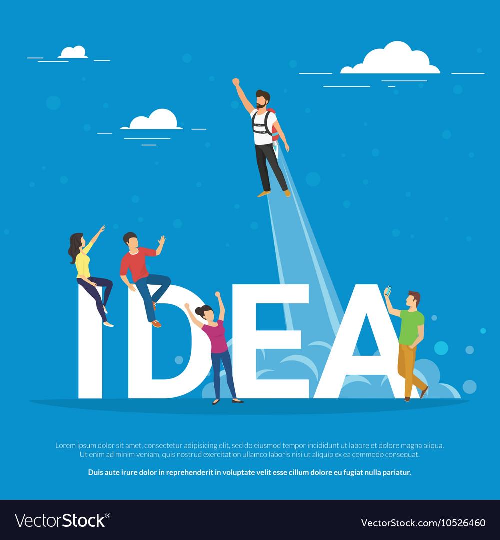 Idea concept of business people