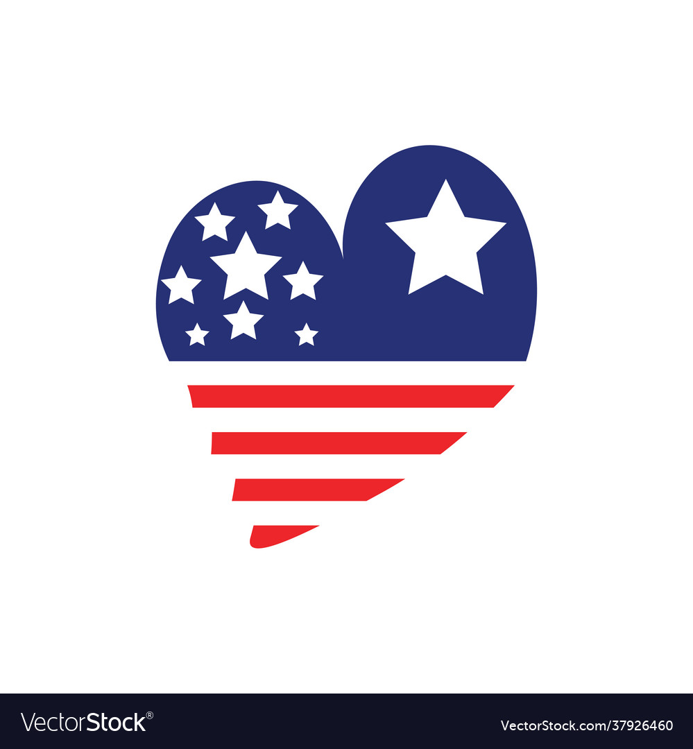 Love usa icon design template isolated