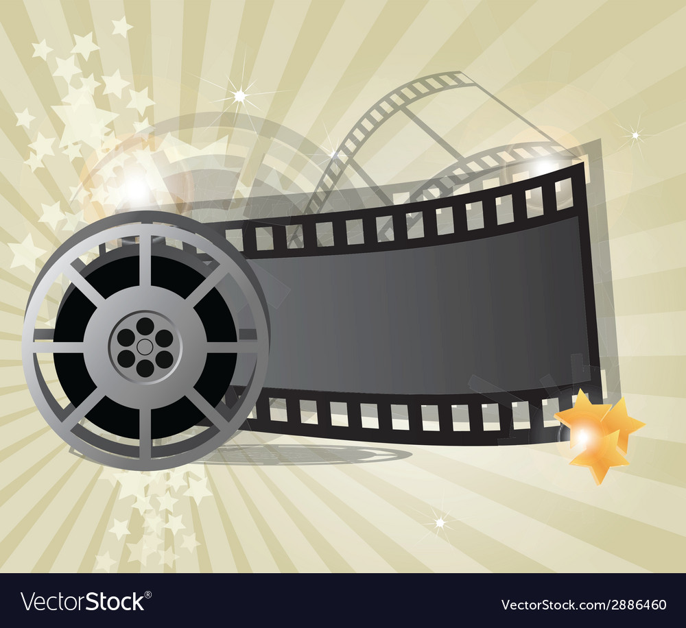 Movie poster vector image