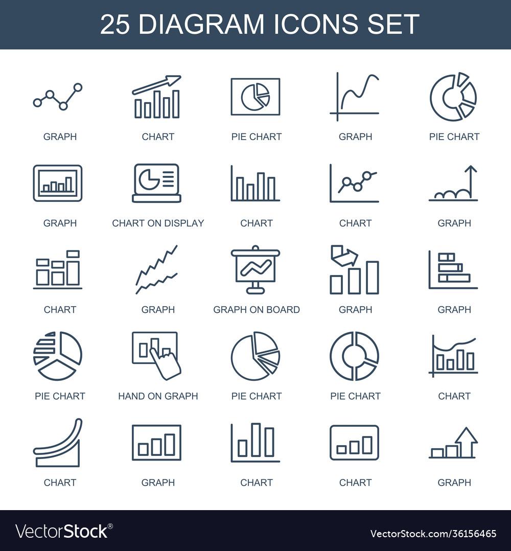 25 diagram icons