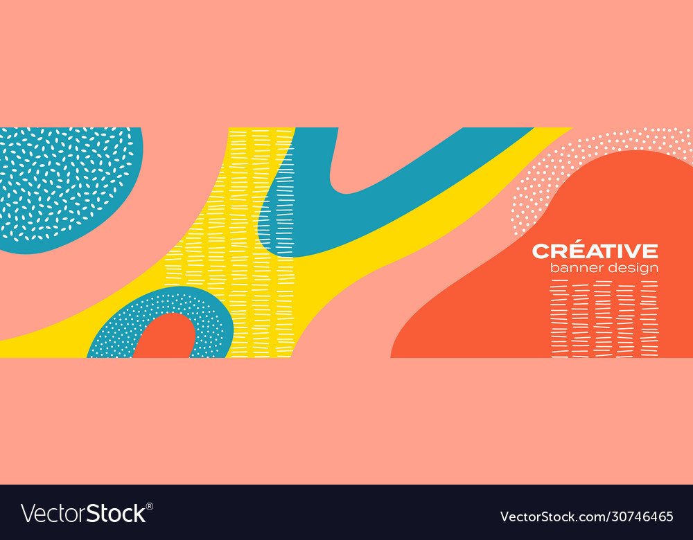 Abstract fun color pattern cartoon doodle