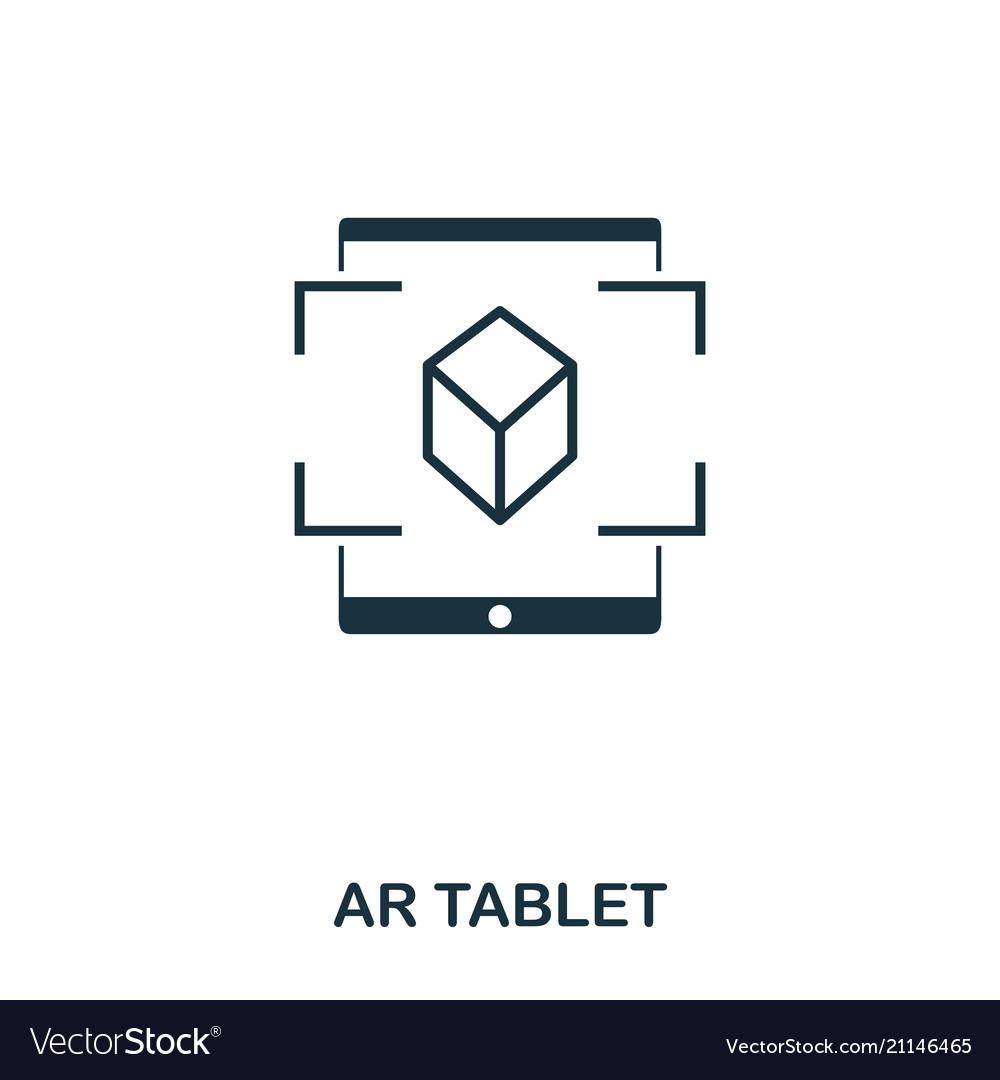Ar tablet icon mobile app printing web site