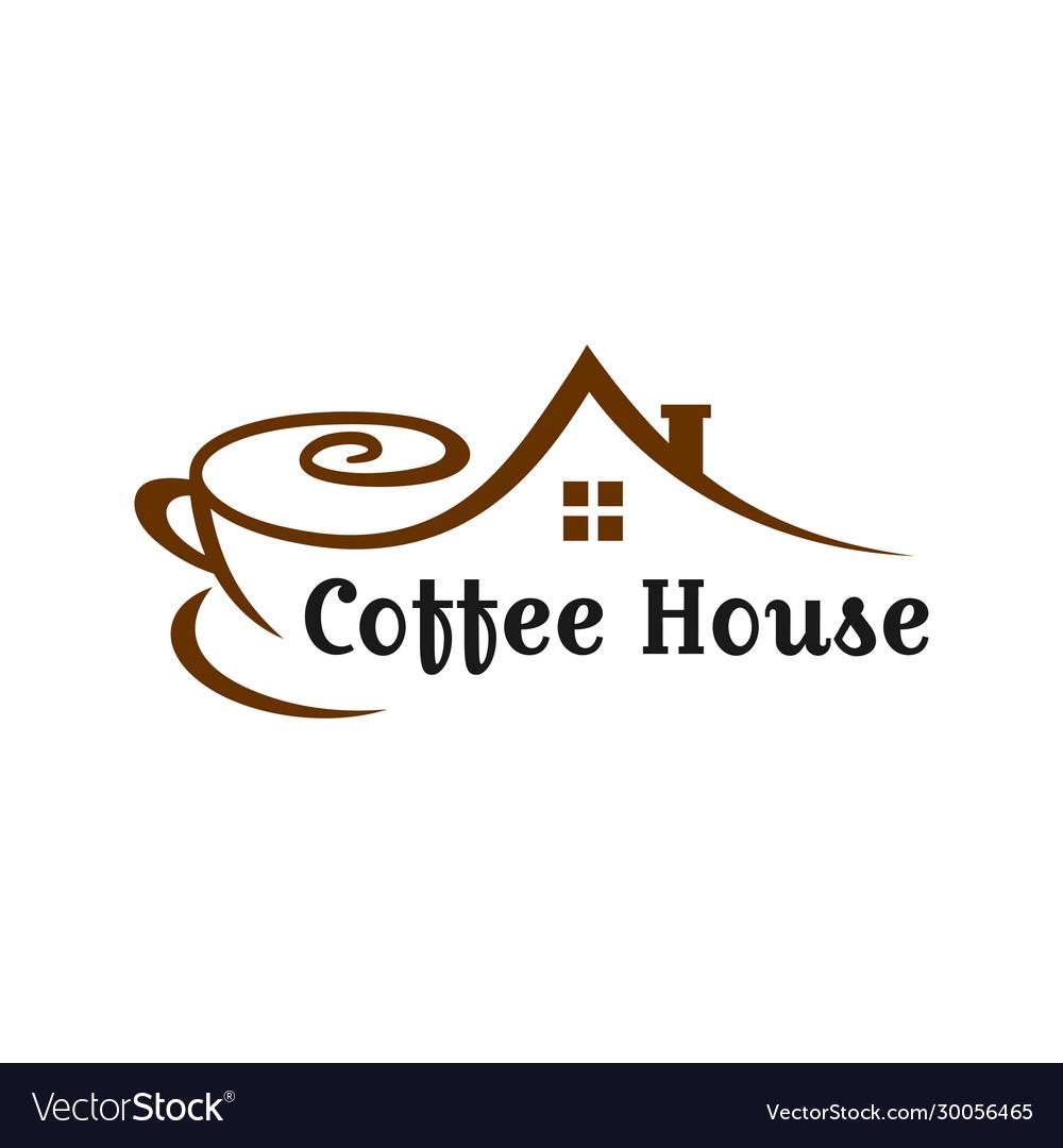 Coffee shop house logo