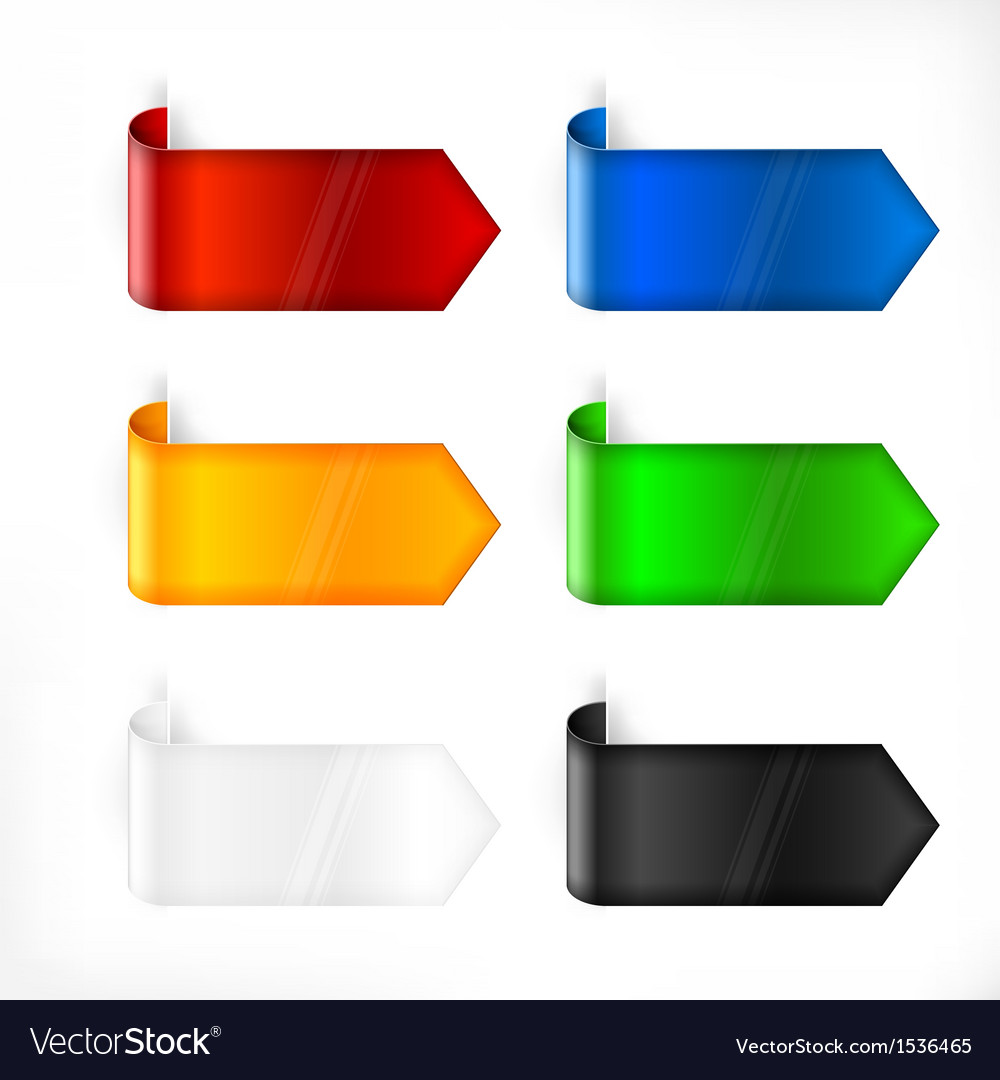 Color labels stickers on white