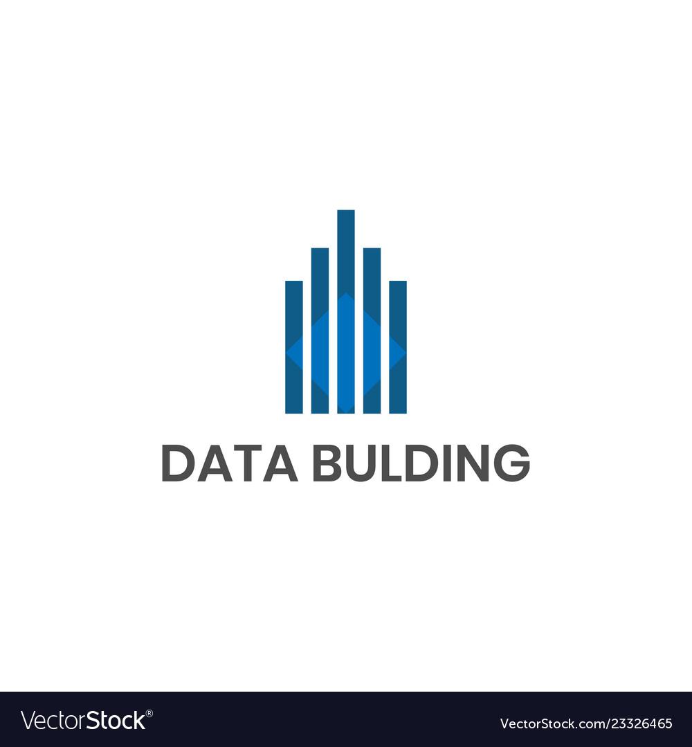 Data building logo design inspiration
