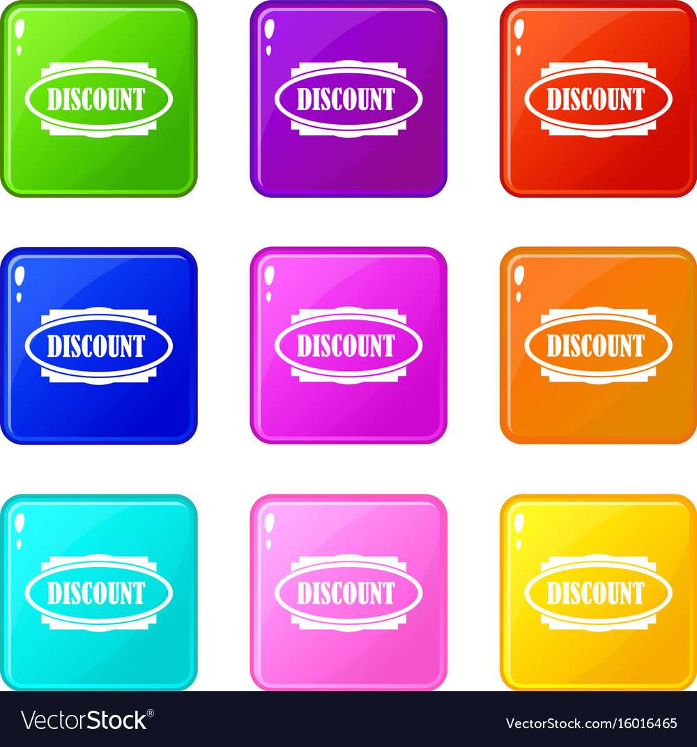 Discount oval label set 9