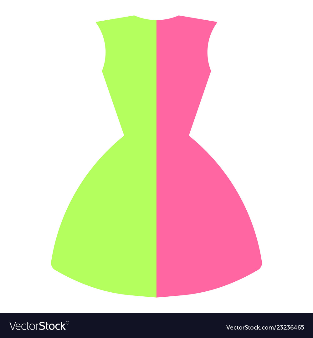 Dress in two colors