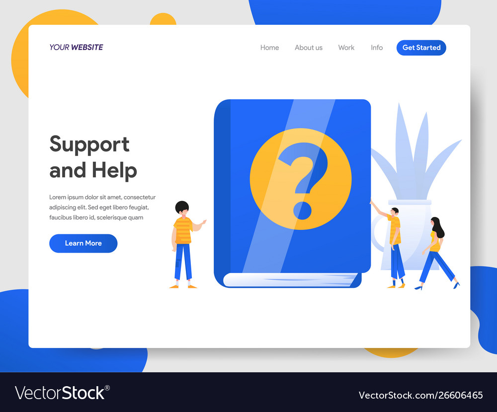 Landing page template support and help