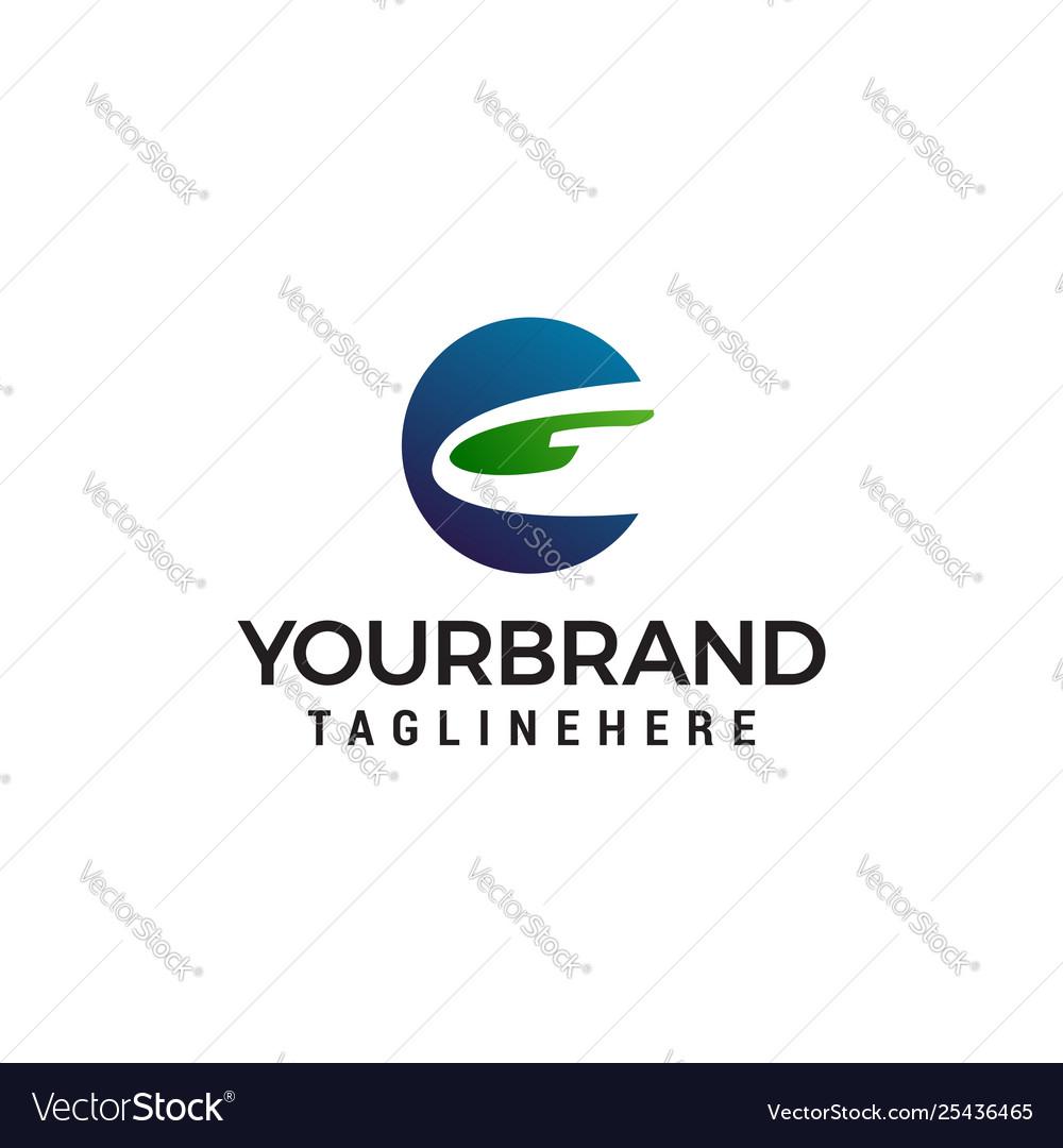Letter g logo design concept template