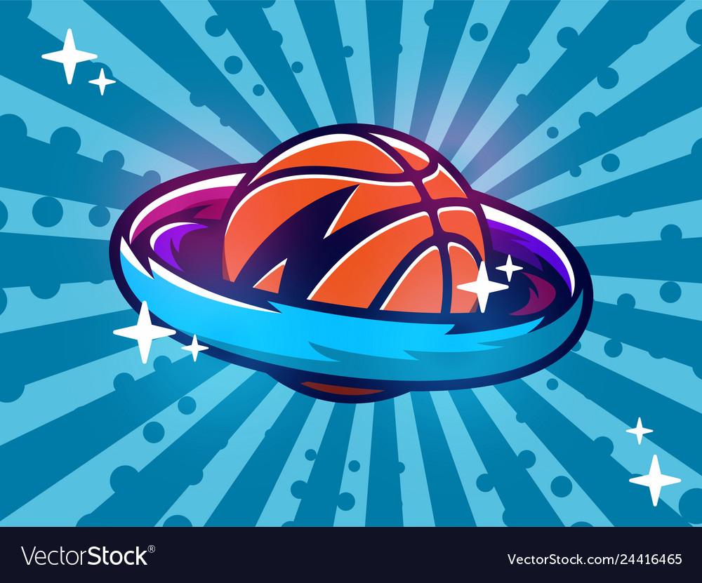 Modern professional emblem basketball