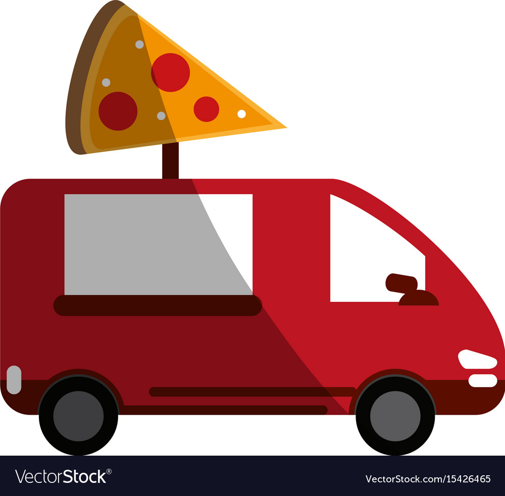 Pizza domicile fast food Royalty Free Vector Image