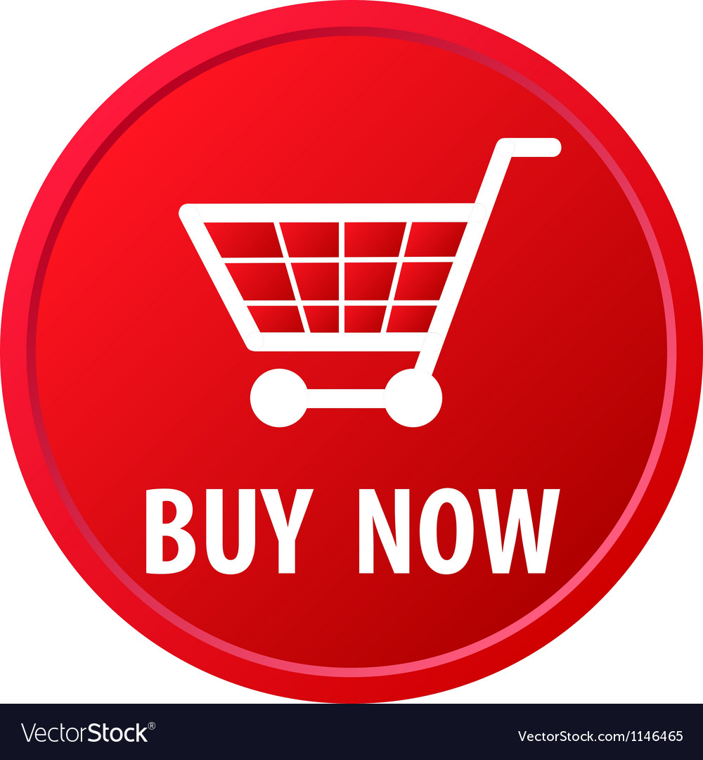 Shopping basket button vector image