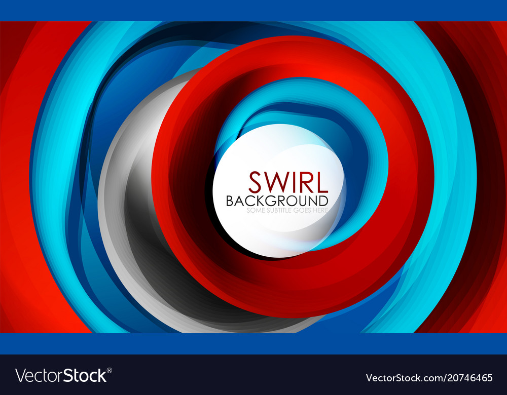 Spiral swirl flowing lines 3d abstract