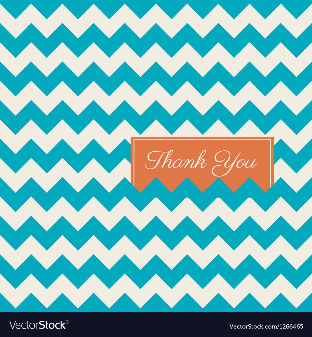 Thank you card chevron background