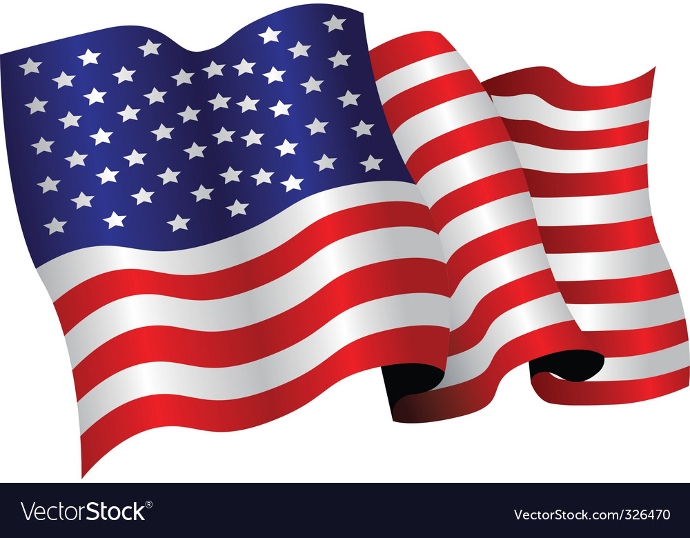american flag royalty free vector image vectorstock rh vectorstock com usa flag vector vector usa flag black and white