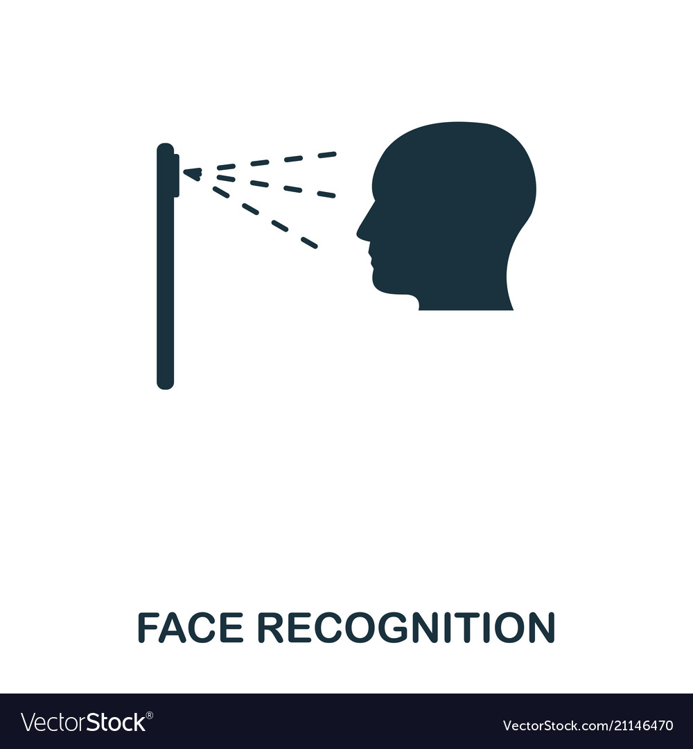 Face recognition icon mobile app printing web